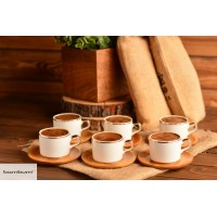 AFFO - SET OF 6 COFFEE CUPS GOLD LINED