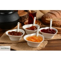 Amorella -  4 Pcs. Sauce Bowl Set with Spoon