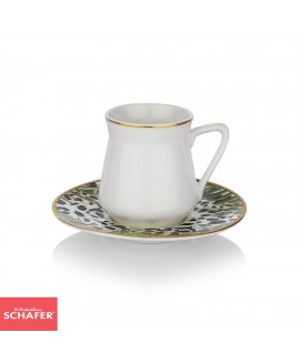 SCHAFER BERLIN KAFFE COFFEE CUP SET-12 PCS.-ALT03